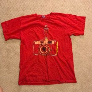 Tops - Red Graphics Shirt Size Small